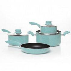 Simplemente Delicioso Casa Balboa 7-Piece Cookware Set, Teal