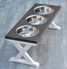 Elevated Dog Bowls, Raised Dog Bowls, Elevated Dog Feeder, Diy Furniture Table, Diy Furniture Plans Wood Projects, Dog Furniture, Large Dog Bowls, Raised Dog Feeder, Dog Feeding Station