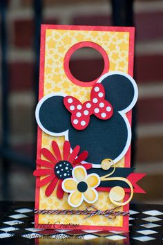 Handmade by M Miranda Creations as a Guest Design Team project for Trendy Twine. #Minnie #twine #celebration #birthday