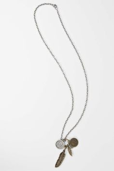Coin and feather necklace from Roger David
