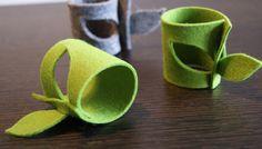 Servietten & Serviettenringe - Serviettenring_blatt grün - ein Designerstück von aixtraliving bei DaWanda
