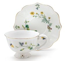 Lucinda Belle Porcelain Tea Cup and Saucer Set Hand Wash only. X Holds 8 oz. includes 1 teacup and 1 saucer. Cup And Saucer Set, Tea Cup Saucer, Teapots And Cups, Teacups, Bone China Tea Cups, Chocolate Pots, Fine Porcelain, Tea Time, Tea Party