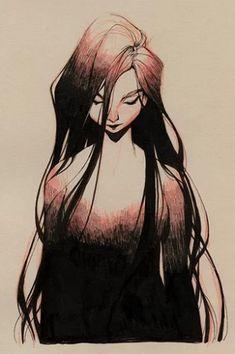 """Drained"" by Loish Pretty Art, Cute Art, Yin Yang Art, Loish, Character Art, Character Design, Arte Sketchbook, Pixar, Desenho Tattoo"