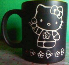 Taza sandblasteada Hello Kitty