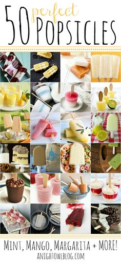50 Perfect Popsicle Recipes - Mint, Mango, Margarita and MORE! The Ultimate Summer Survival Guide! #popsicle #recipes