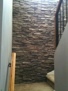 Stacked Stone Feature wall