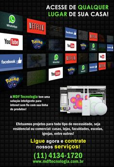 PROJETOS WI-FI Sistema que combina desempenho e estabilidade em um controlador de gerenciamento virtual. #WIFI #Tecnologia #Unifi #Ubiquiti #Netflix #Pokemon #Yotube #whatsapp #facebook #internet #wireless