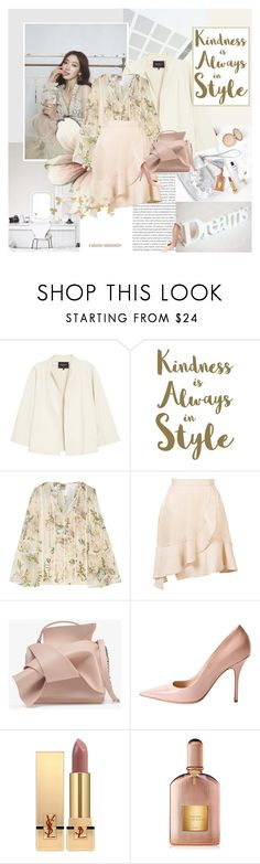 """""""Kindness is always in style"""" by rainie-minnie ❤ liked on Polyvore featuring Oris, Shin Choi, Lafayette 148 New York, Sixtrees, Haute Hippie, Carven, Yves Saint Laurent and Tom Ford"""