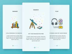 Branding Learn About Onboarding from Inspired App Design - Branding Beard Design Web, App Ui Design, User Interface Design, Graphic Design, Flat Design, Icon Design, Onboarding App, Splash Screen, App Design Inspiration