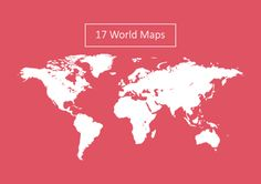 17 World Map Vectors by Dreamstale on Creative Market