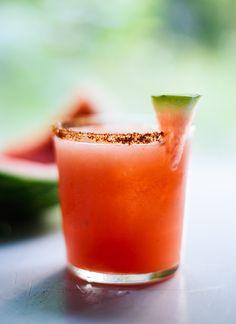 Spicy watermelon margarita - cookieandkate.com