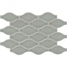 Morning Fog Ogee Pattern 12x12 Glossy Ceramic Mosaic Tile Mosaic Tiles Ceramic Subway Tile