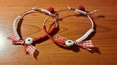 Macrame Bracelets, Handmade Bracelets, Evil Eye Bracelet, Clay Jewelry, Mars, Cross Stitch, Pandora, Charmed, Diy Crafts