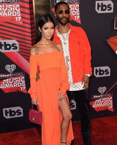 #BaeGoalsb#Jhene Aiko and #Big Sean attend the 2017 iHeartRadio Music Awards