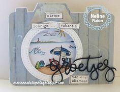 Marianne Design Blog: Groetjes van ons allemaal Stencil Diy, Stencils, Camera Cards, Marianne Design Cards, Elizabeth Craft Designs, Sea Theme, Birthday Cards For Men, Shaker Cards, Masculine Cards