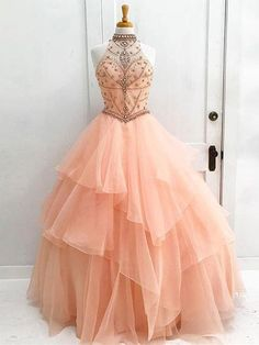 Long Prom Dress Ball Gown H...