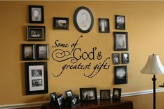 God's Greatest Gifts Wall Lettering Decal Decor Words | eBay