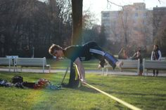 Planchin' on the slackline. By Vladis Workout, Work Outs
