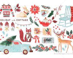 Watercolor Nutcracker Christmas Clip Art for door ReaniDesigns