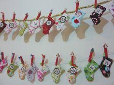 Advent Calender Stockings, a fantastic idea!