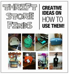 """Interior Fun: Creative Ideas for Thrift Store Finds, A """"How To"""" for repurposing old treasures"""