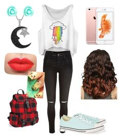 """""""Rainbow"""" by alexandra0316 on Polyvore featuring River Island, Converse, Jewel Exclusive, Monsoon and Aéropostale"""