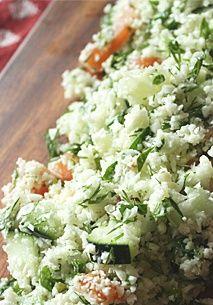RAW CAULIFLOWER TABBOULEH #tabbouleh #cauliflowerrecipe