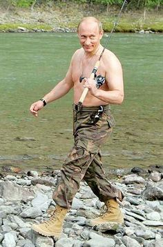 He also pioneered shirtless fishing | 27 Reasons Why Vladimir Putin Definitely Won The Russian Presidential Election
