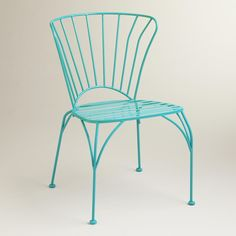 Boasting a modern yet traditional 19th-century appeal, our exclusive turquoise blue chairs are reminiscent of French bistro seating. Pair these vibrant metal chairs with any of our Cadiz Bistro Tables for a perfectly put-together look.