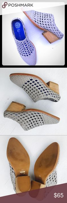 cf7966fab8c Jeffrey Campbell Gray Mules Jeffrey Campbell Womens Shoes Sz 7 - Gray  Handmade Havana Basket Weave Mules Excellent condition - worn once Jeffrey  Campbell ...