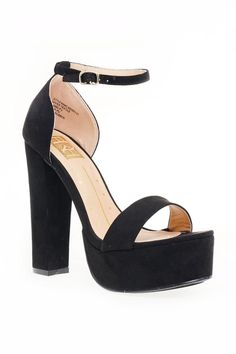 Ankle Strap Chunky Platform Heel Shoes GS-LOVE