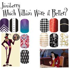 """""""Jamberry Villains 2"""" by angiodancer on Polyvore http://lizziesjams.jamberrynails.net/"""