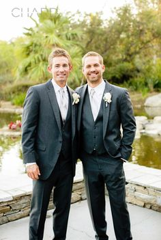 Paul Walker flashes his movie star smile -- the one that won over fans around the world -- as he poses with his younger brother Caleb on his wedding day.