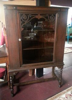 1940's China Cabinet with beautiful details