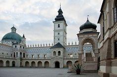 Krasiczyn Castle was expanded in mannerist style for Marcin Krasicki between 1598 and 1631 by Galleazzo Appiani