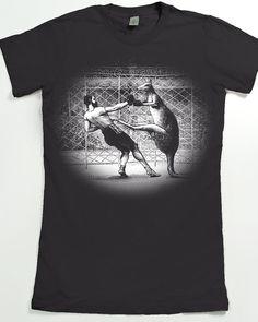 Women's Shirt Kangaroo Boxing Tshirt Animal by SlothWingTees