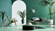 The Design Files Daily -Lightly · 'Le Jardin' Space Furniture, Furniture Design, Chair Design, Bedroom Green, The Design Files, Soft Furnishings, White Walls, Home And Living, Interior Inspiration