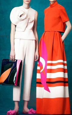 Neoprene Top with Flower by DELPOZO for Preorder on Moda Operandi