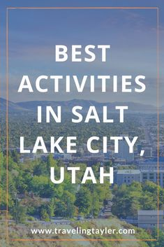 There are lots of things to do in salt lake city, Utah, USA. Here are some of the top things to do in salt lake city, utah in the summer. What to do in salt lake city including hikes near Salt Lake City, Utah. These are the fun things to do in slc, utah. #travelusa