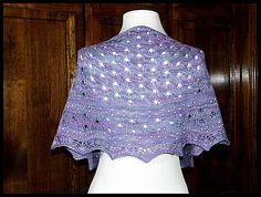 """""""Raindrops in Spring"""" knit in 75% merino / 25% nylon fingering weight yarn (pattern by Marleen van der Vorst Eggermont)"""
