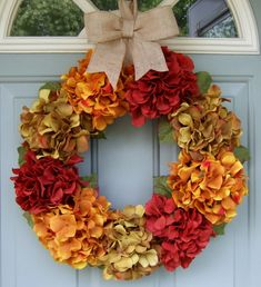 Fall Wreath  Fall/Autumn Wreath  Fall Door Wreath by countryprim, $59.00