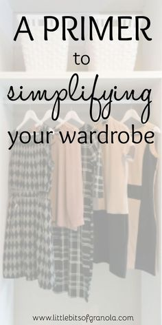 This is a great motivator for getting started with simplifying your wardrobe!