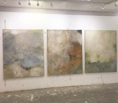 New trio....150x120cm canvases #art #abstract #painting #colour #surface #structure #studio #artist #europe #gallery #london