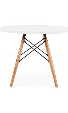 Eames Style Kids Dining Play Table - Dowel DSW Leg, Circular White Top Best Price