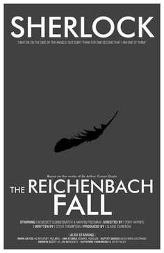 The Reichenbach Fall  An 11x17 by TheGeekerie // i bought the study in pink version by this same person last year. Gorgeous work.