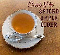 Crock Pot Apple Cider - perfect for a Christmas Party!