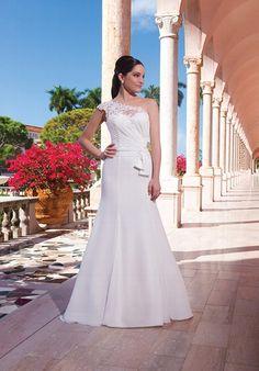 Elfenbeinfarbenes Hochzeitskleid aus Chiffon und mit Alencon Spitze im Meerjungfrauen-Stil - von Sweetheart