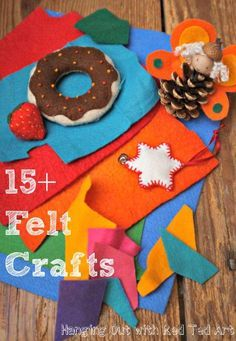 Love Felt? Check out these lovely colourful felt craft ideas...