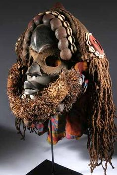 "Dan Mask |  The Dan group is a tribe of the Dan-Nguere. They live in west Liberia, Guinea Conakry and west Ivory Coast. The social and spiritual base of the Dan-Nguere is the secret society Poro, that means ""sierra"". 