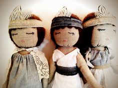 Natural Fiber Handcrafted Doll, made with love in San Francisco, available for purchase at http://www.abchome.com